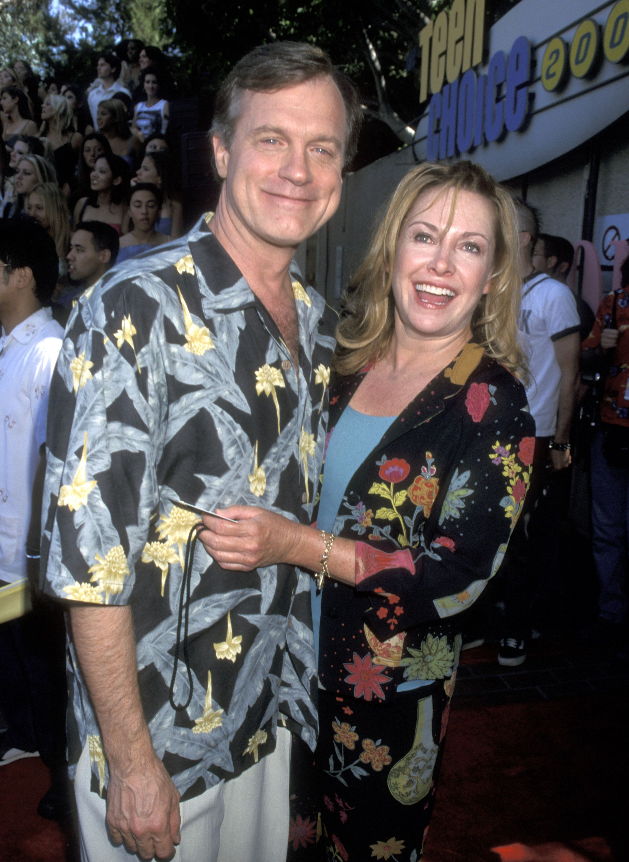 Actors Stephen Collins and Catherine Hicks attend the Third Annual Teen Choice Awards on August 12, 2001 at Universal Amphitheatre in Universal City, California. (Photo by Ron Galella, Ltd./WireImage)