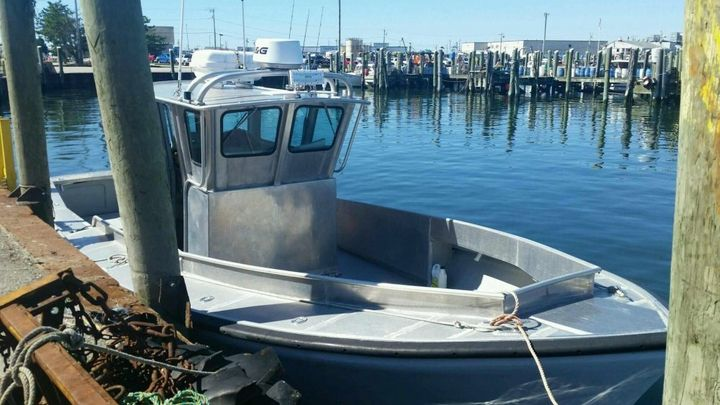This is the 32-foot aluminum boat that authorities say Linda and Nathan Carman took out on the evening of Sept. 17.
