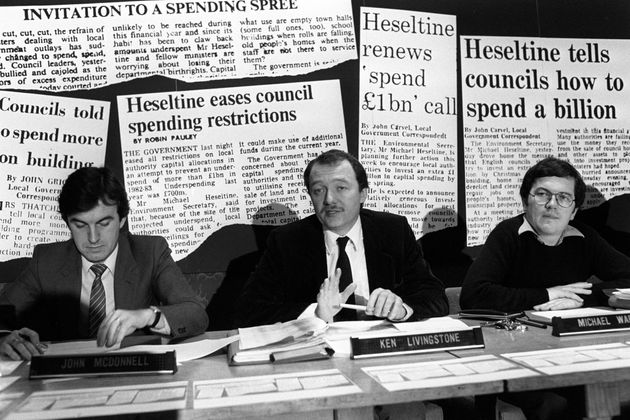 A young John McDonnell and Ken Livingstone on the