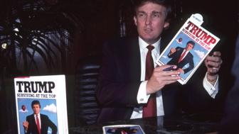 NEW YORK  OCTOBER 1990 Donald Trump at signing for his book Trump Surviving at the Top circa October 1990 in New York City Photo by Sonia MoskowitzGetty Images