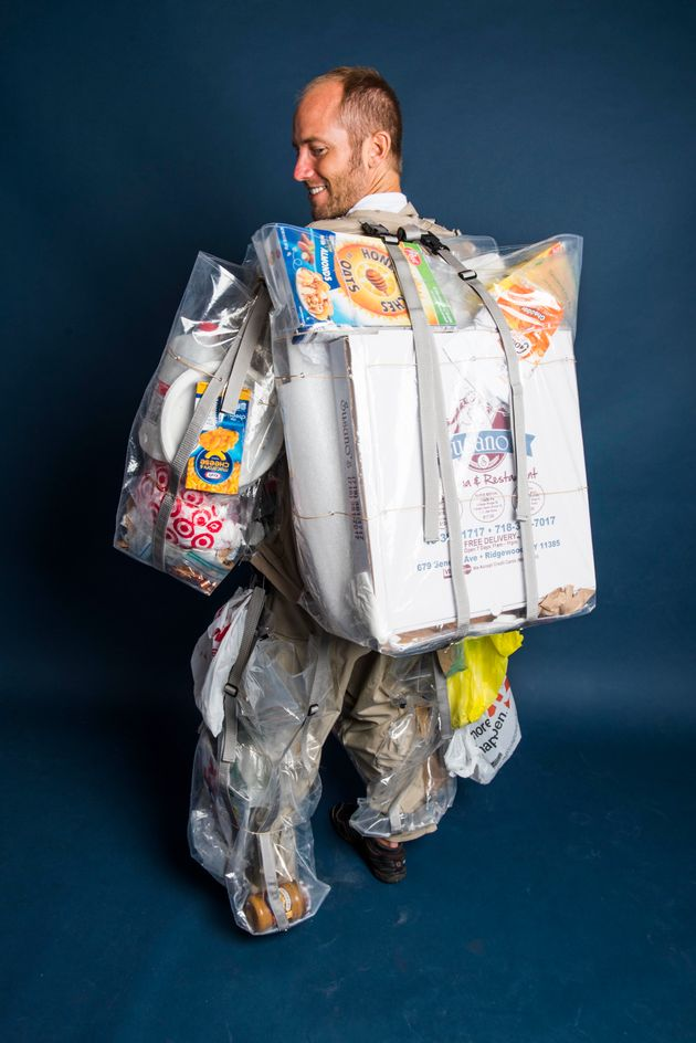 This Guy Is Wearing Every Piece Of Garbage He Generates For A