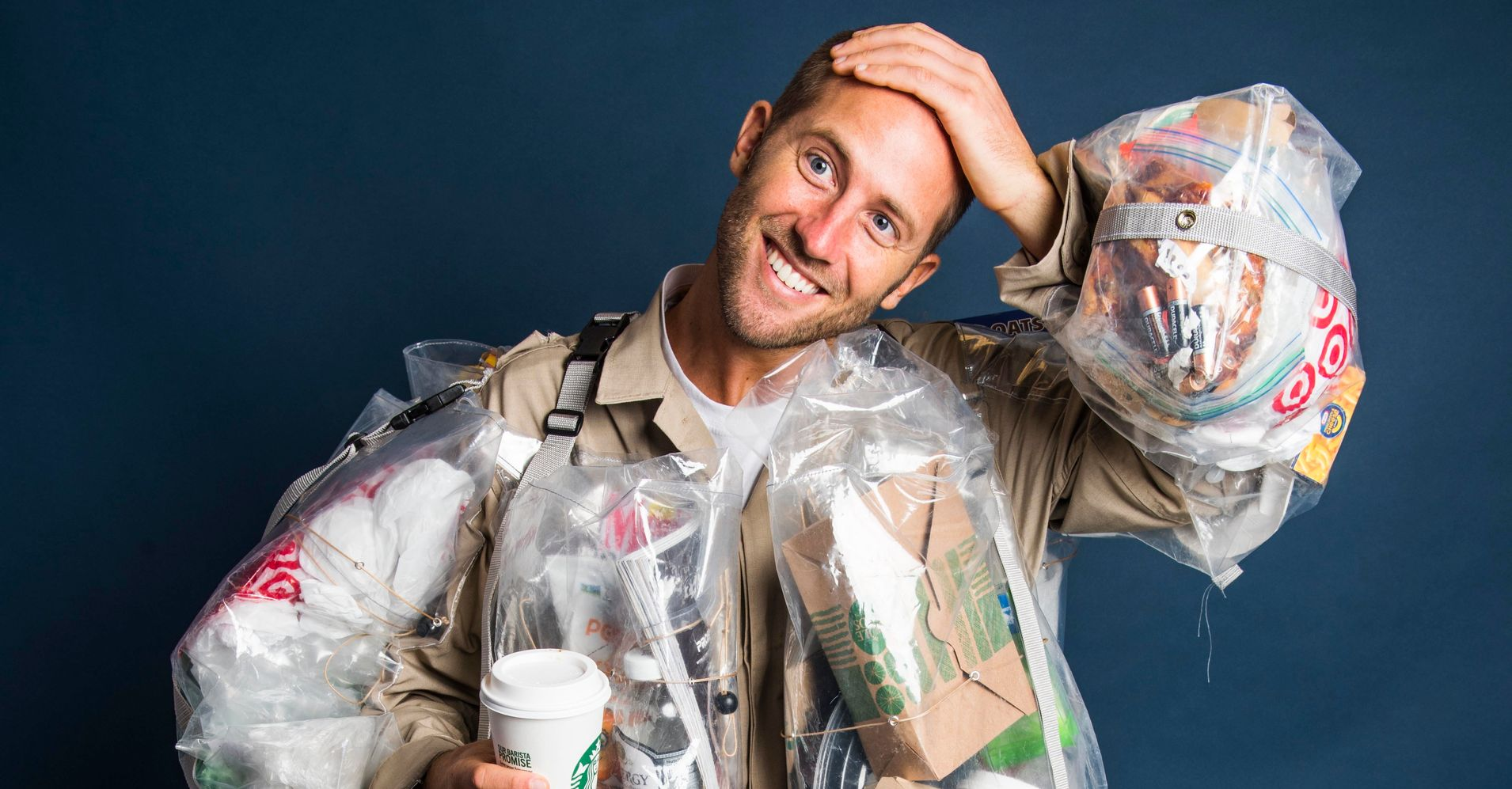 This Guy Is Wearing Every Piece Of Garbage He Generates