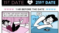 The First Date Vs. The 21st Date, As Told In