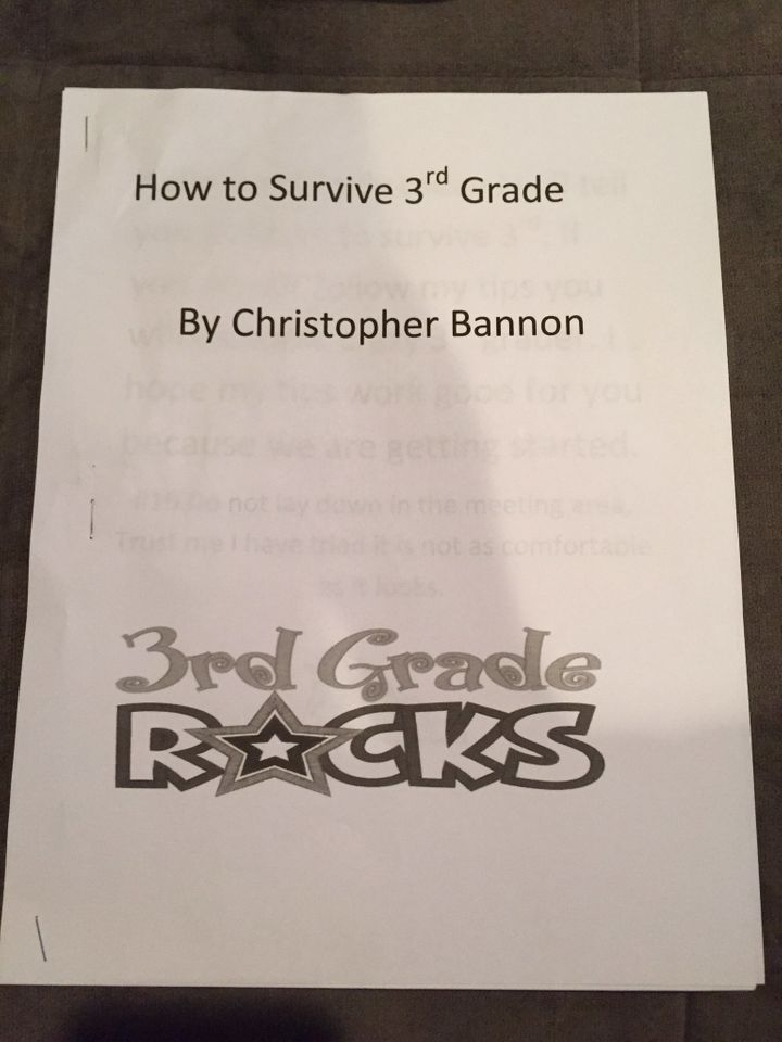 Inspired by a book, 8-year-old Christopher Bannon wrote a school survival guide for his fellow third-graders.