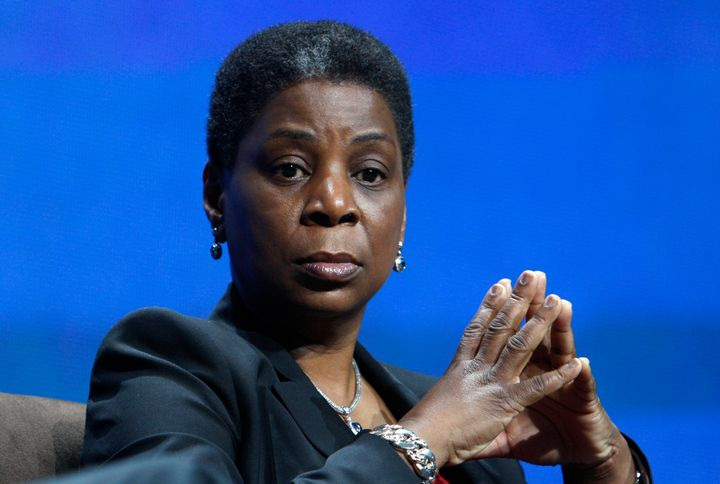 Xerox chairman and CEO Ursula Burns is seen at the 2012 International Consumer Electronics Show in Las Vegas, Jan. 11, 2