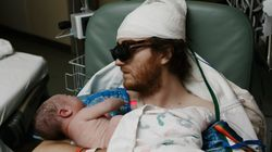 Dad With Cancer Travels From ICU To Delivery Room For Son's