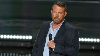 CLEVELAND, OH - JULY 18: Former Marine Mark Geist, present at Benghazi, speaks during the first day of the Republican National Convention on July 18, 2016 at the Quicken Loans Arena in Cleveland, Ohio. An estimated 50,000 people are expected in Cleveland, including hundreds of protestors and members of the media. The convention runs through July 21. (Photo by Tasos Katopodis/WireImage)