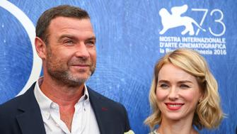 "Actors Liev Schreiber (L) and Naomi Watts attend the photocall for the movie ""The Bleeder"" at the 73rd Venice Film Festival in Venice, Italy September 2, 2016. REUTERS/Alessandro Bianchi"