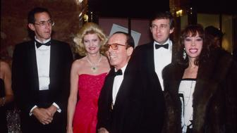 NEW YORK - DECEMBER 12:  Tony Schwartz, Ivana Trump, Scavullo, Donald Trump, Janet Vilella attend the book party for 'The Art of the Deal' at Trump Tower December 12, 1987 in New York City.  (Photo by Sonia Moskowitz/Getty Images)