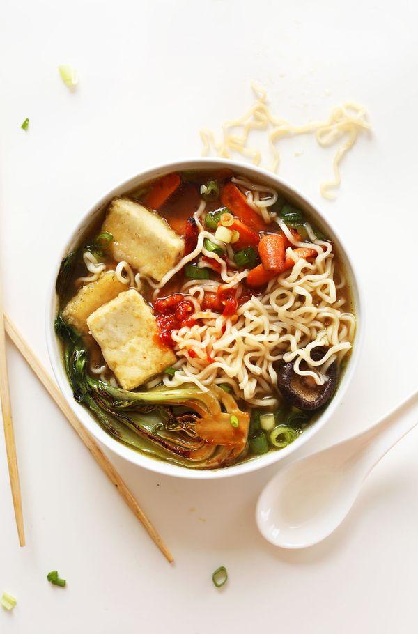 """<strong>Get the <a href=""""http://minimalistbaker.com/easy-vegan-ramen/"""" target=""""_blank"""">Vegan Ramen recipe</a>from Minim"""