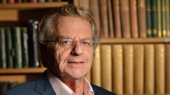 CAMBRIDGE, CAMBRIDGESHIRE - NOVEMBER 05:  (EXCLUSIVE COVERAGE) Jerry Springer posing for a portrait before his Cambridge Union address at The Cambridge Union on November 5, 2015 in Cambridge, Cambridgeshire.  (Photo by Chris Williamson/Getty Images)