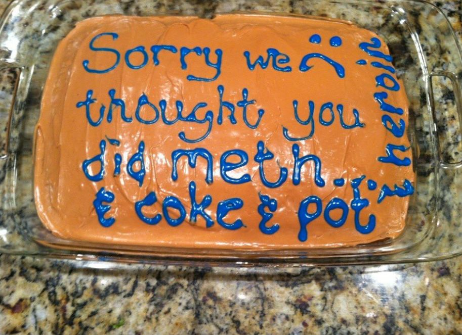 Mum Mistakenly Accuses Daughter Of Taking Drugs, Makes Hilarious Cake To