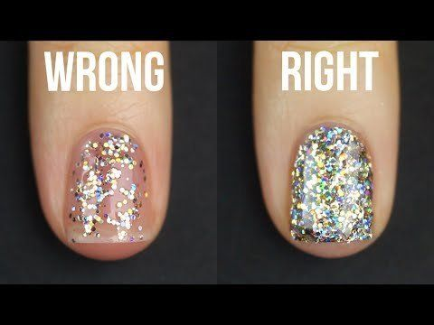 Turns Out We've Been Applying Glitter Nail Polish All Wrong