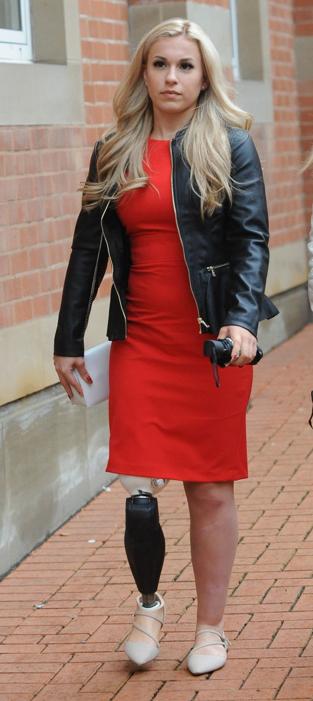 Vicky Balch leaves Stafford Crown Court, where Alton Towers operator Merlin Attractions Operations Ltd...