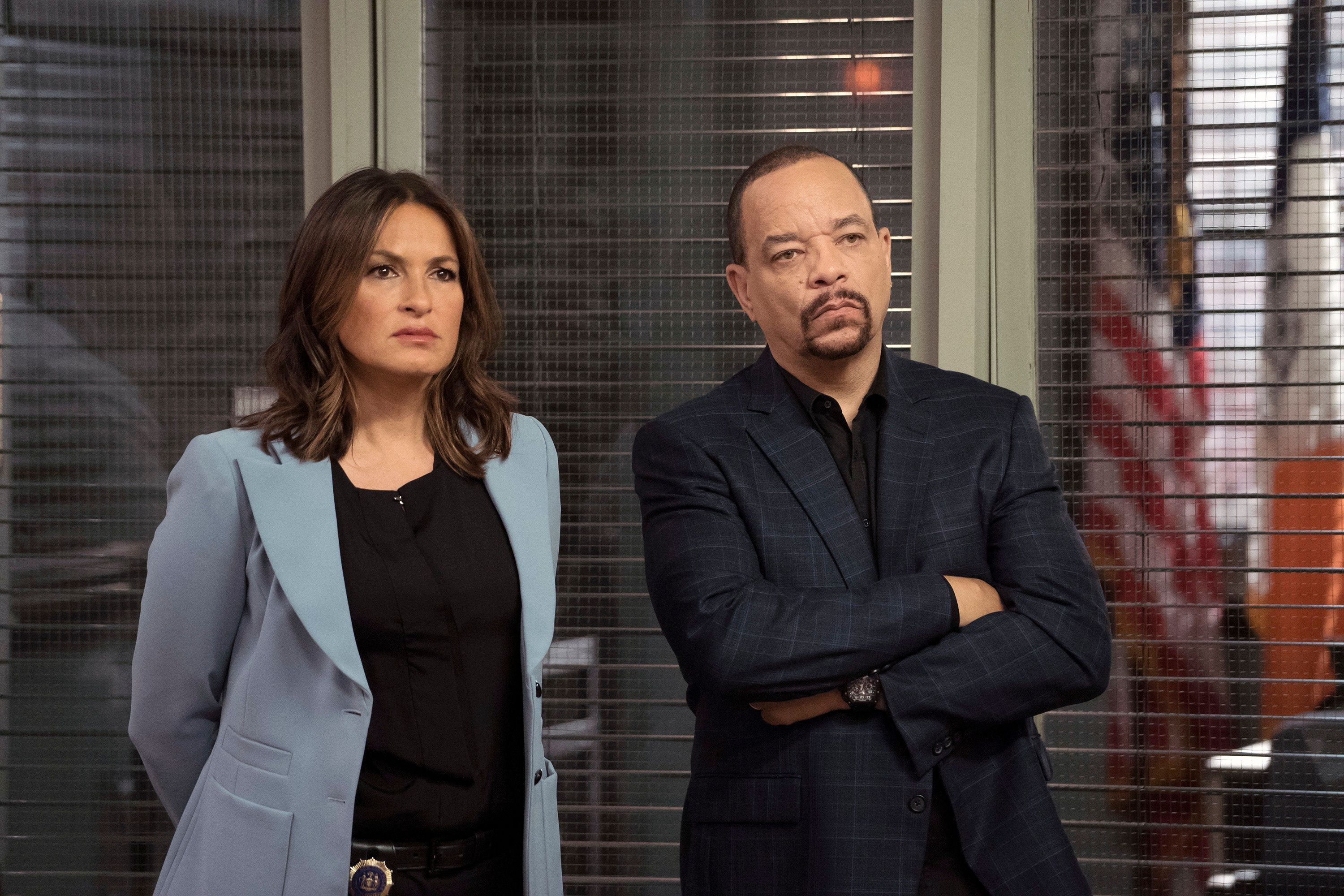LAW & ORDER: SPECIAL VICTIMS UNIT -- 'Making A Rapist' Episode 1802 -- Pictured: (l-r) Mariska Hargitay as Olivia Benson, Ice-T as Odafin Tutuola -- (Photo by: Peter Kramer/NBC/NBCU Photo Bank via Getty Images)