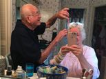Photo Of Grandpa Doing His Wife's Hair Will Give You New Couple Goals