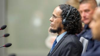 Ahmad al-Faqi al-Mahdi appears at the International Criminal Court in The Hague, Netherlands, August 22, 2016 at the start of his trial on charges of involvement in the destruction of historic mausoleums in Timbuktu during Mali's 2012 conflict.  REUTERS/Patrick Post/Pool