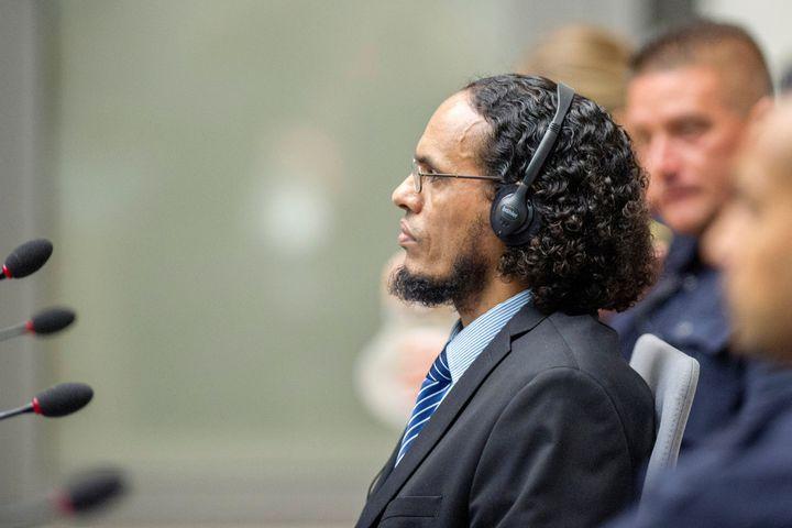 Ahmad al-Faqi al-Mahdi appears at the International Criminal Court in The Hague, Netherlands, August 22, 2016.