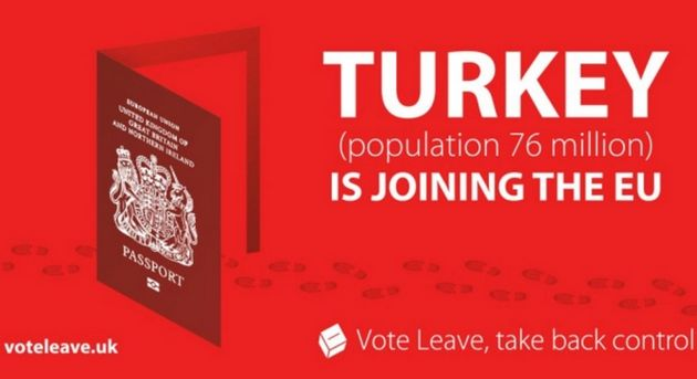 The Vote Leave poster, which was accused of 'stoking the fires of