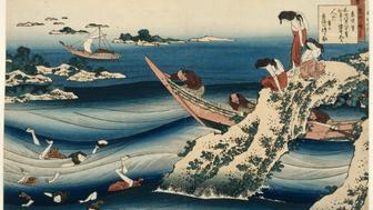 Hokusai Katsushika (1760-1849). Paris, mus�e Guimet - mus�e national des Arts asiatiques. MA7093.