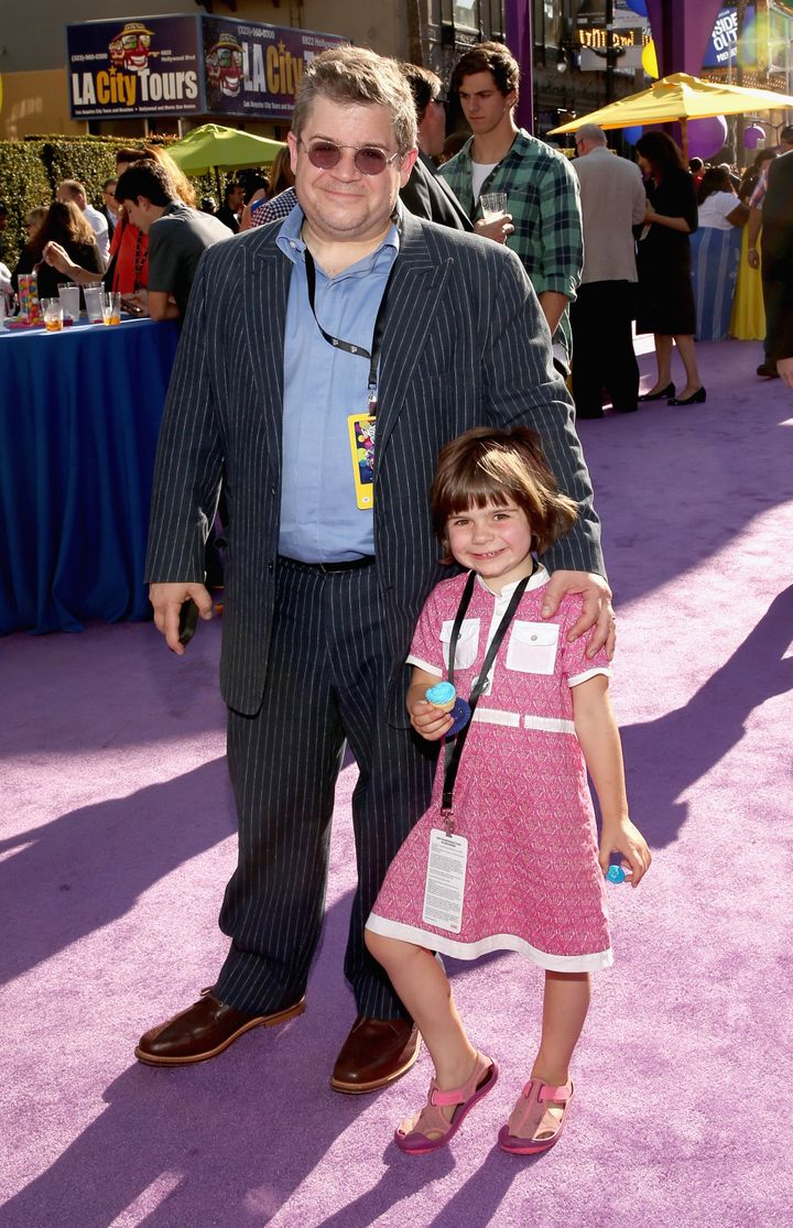 Oswalt and his daughter, Alice, in 2015.
