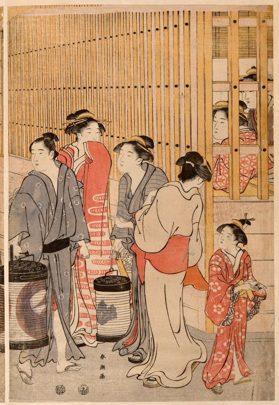 "Katsukawa Shuncho, ""Edocho, in the district of Yoshiwara,""1791-1793"
