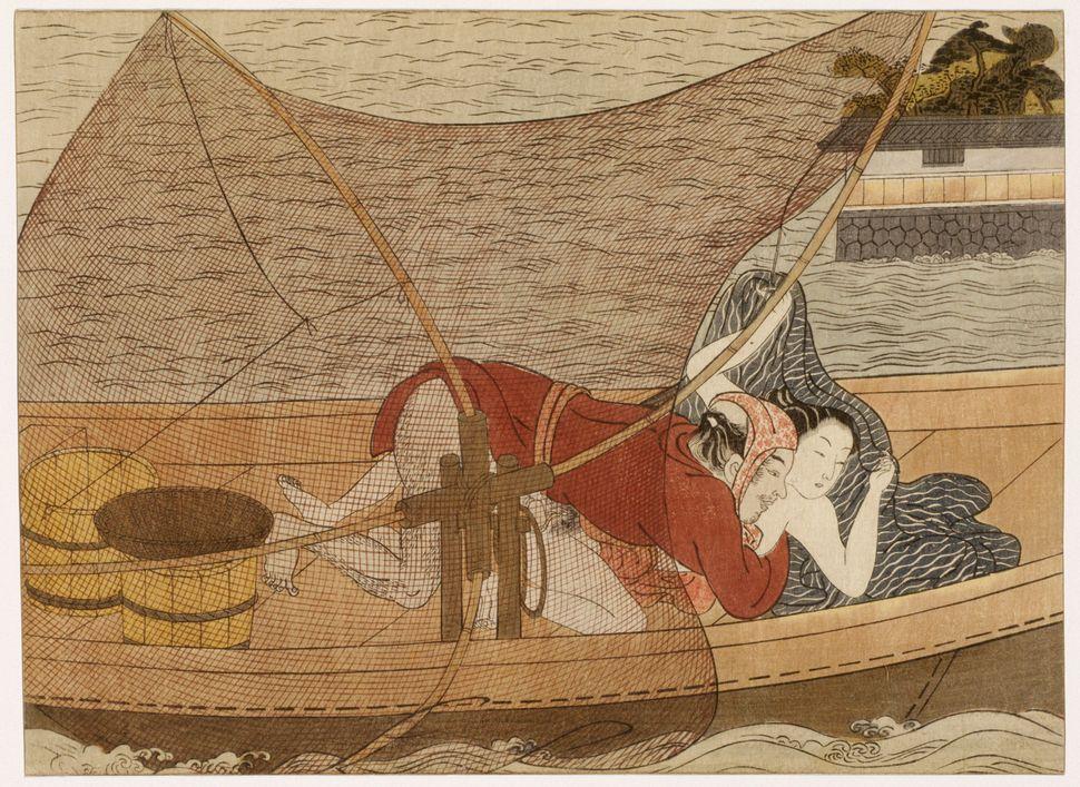 "Suzuki Harunobu, ""In the boat,""1765-1770"