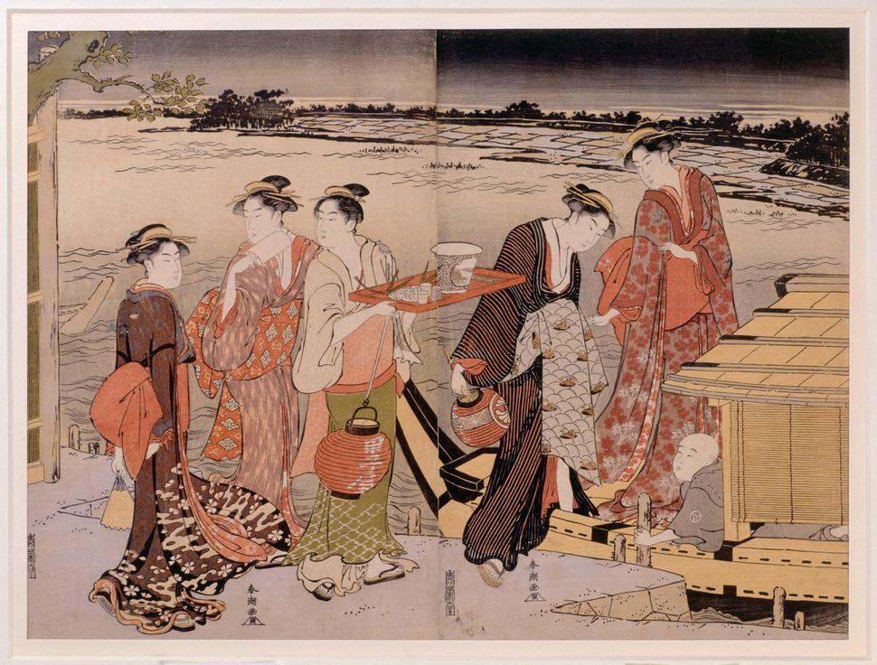 """Katsukawa Shuncho, """"Twilight on the Sumida River,""""<i>&nbsp;</i>1781-1788"""