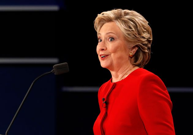 Democratic U.S. presidential nominee Hillary Clinton speaks during the first presidential debate with...
