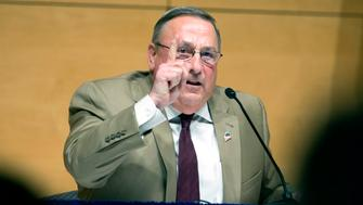 PORTLAND, ME - DECEMBER 8: Gov. Paul LePage brings his town hall tour to Portland, speaking at the Abromson Center at the University of Southern Maine on Tuesday, December 8, 2015. (Photo by Derek Davis/Portland Press Herald via Getty Images)
