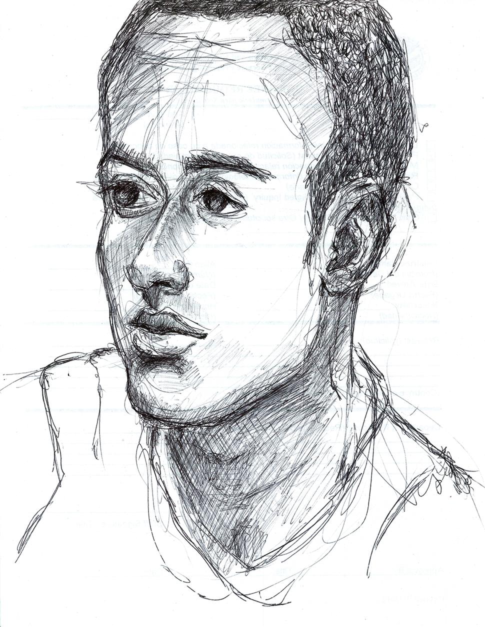JoséAlvarez (D.O.P.A.) Philip, Brazil, 2012, Ballpoint pen on paper