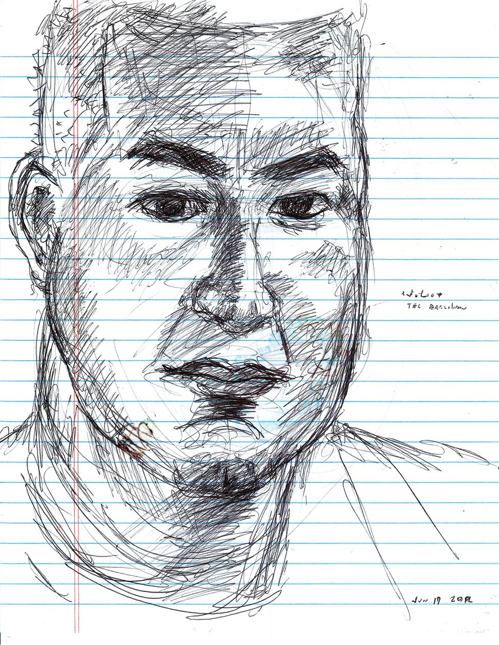 JoséAlvarez (D.O.P.A.) Julio, Brazil, 2012, Ballpoint pen on paper
