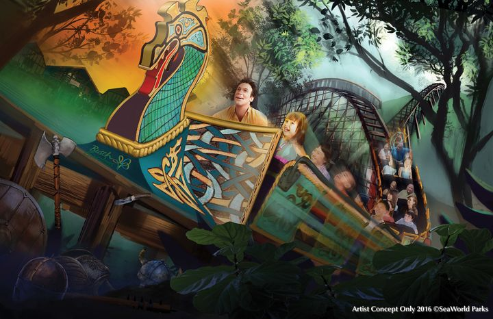At Busch Gardens in Williamsburg, Virginia, the newInvadR coaster will take guests down a 70-foot drop and over nine hills.