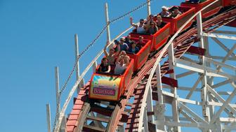 Santa Cruz roller coaster at the boardwalk