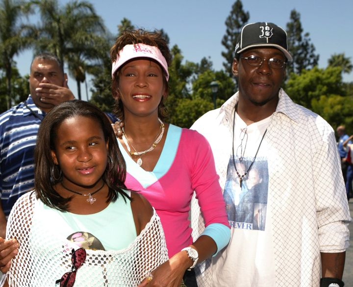 Whitney Houston, Bobby Brown and their daughter Bobbi Kristina in 2007.
