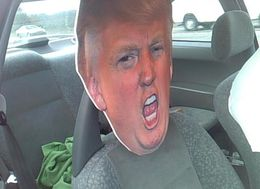 It's A Dummy All Right! Troopers Find Trump Cutout In HOV Lane
