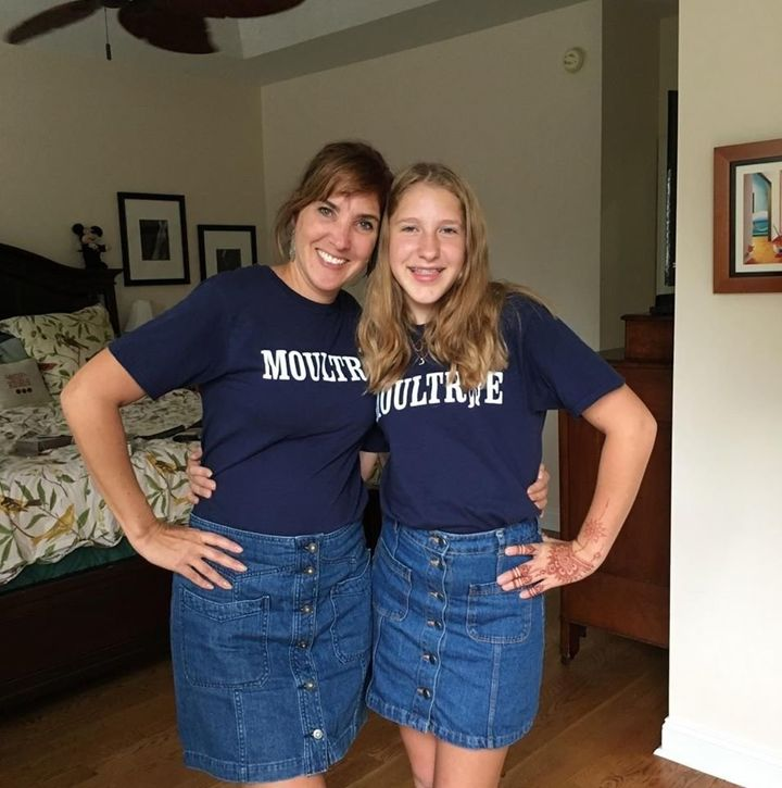 """Suzie Webster stood up for her daughter after a teachersaid her skirt looked suitable for """"clubbing."""""""