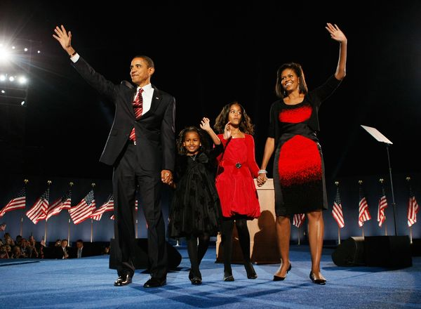Has a suit ever conveyed hope before? It sure did at President Obama's 2008 election night gathering in Grant Park, Chicago.&