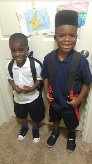 Tunette Powell's sons, Joah and JJ.