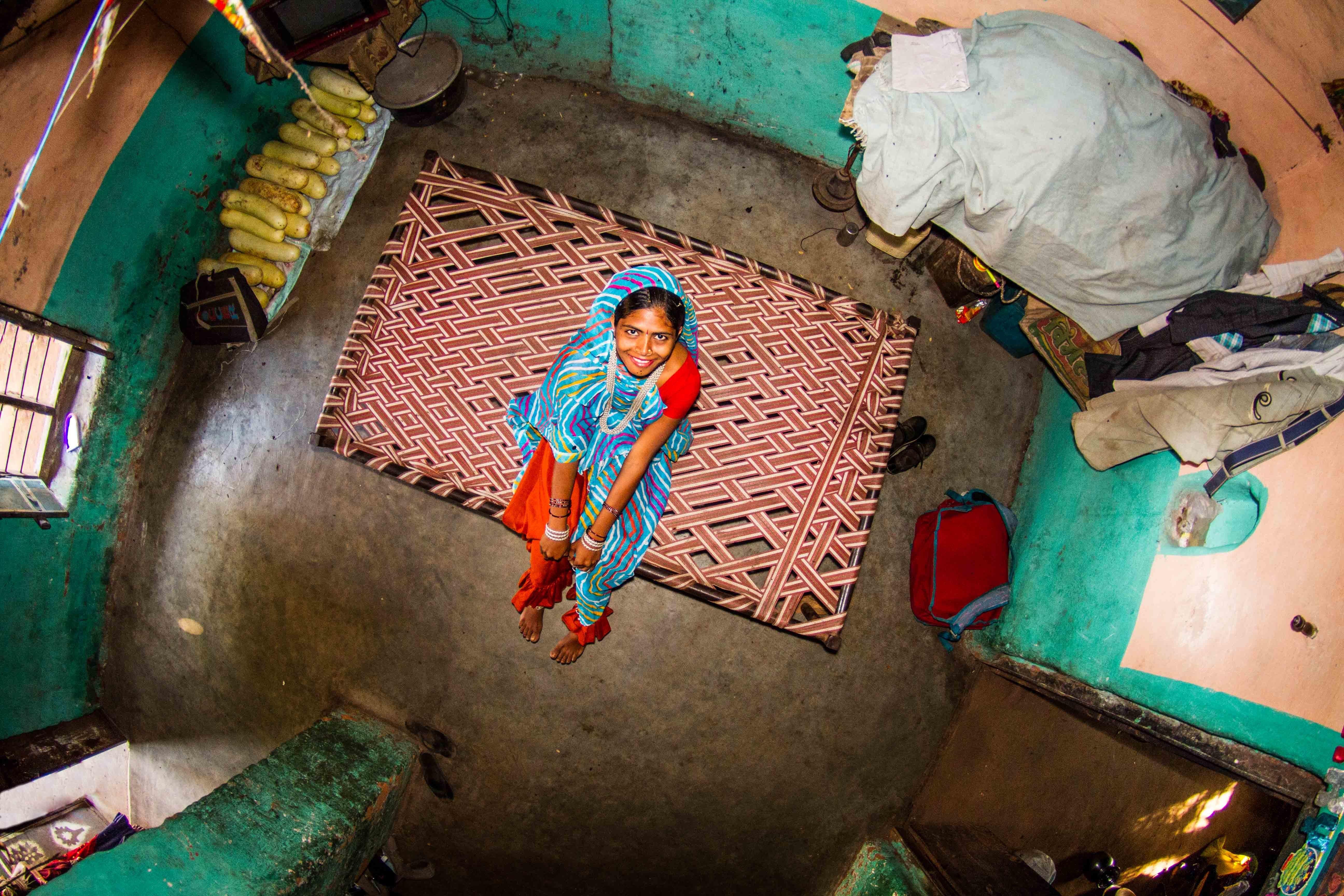 Room #348: Madyah Pradesh, India. Asha is a 17-year-old homemaker.