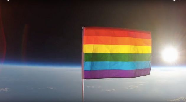 Stunning Video Shows First Pride Flag Launched Into Outer