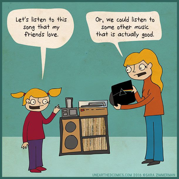 Listening to (good) music with your kids. http://UnearthedComics.com