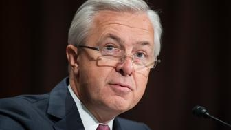 UNITED STATES - SEPTEMBER 20: Wells Fargo CEO John Stumpf, testifies at a Senate Banking, Housing, and Urban Affairs hearing in Dirksen Building, September 20, 2016, on the company's unauthorized accounts opened under customers' names. (Photo By Tom Williams/CQ Roll Call)