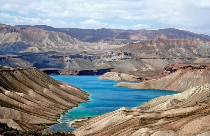 Band-e-Amir National Park, located high up in the central highlands of Afghanistan's Bamyan province.