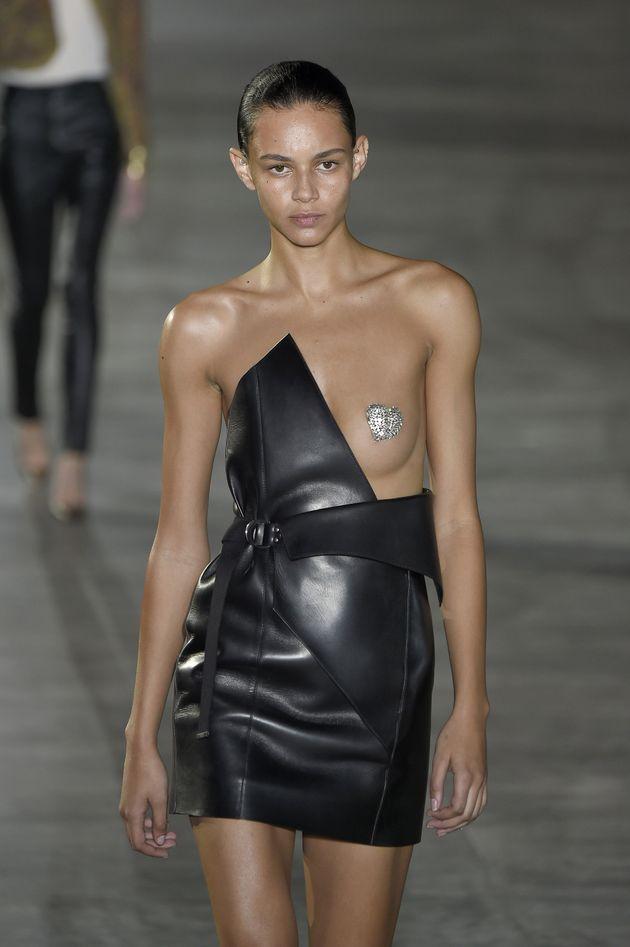 Saint Laurent Tried To Make Glitter Nipples Happen At Paris Fashion