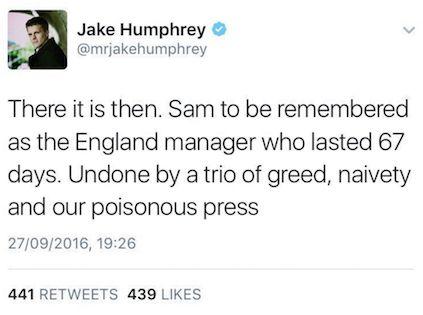 Original tweet: Humphries hit out at 'poisonous