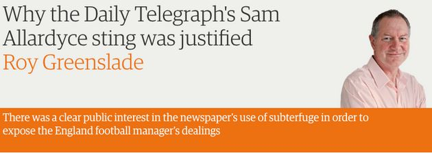 The Guardian's Roy Greenslade defended the sting as