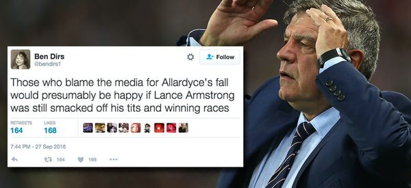 Sam Allardyce Gets Slaughtered After Blaming Media 'Entrapment' For Downfall