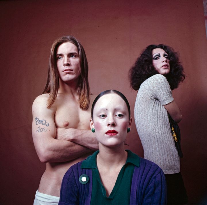 The stars of Andy Warhol's 'Trash', Holly Woodlawn, Jane Forth and Joe Dallesandro in 1970. (Photo by Jack Mitchell/Getty Ima