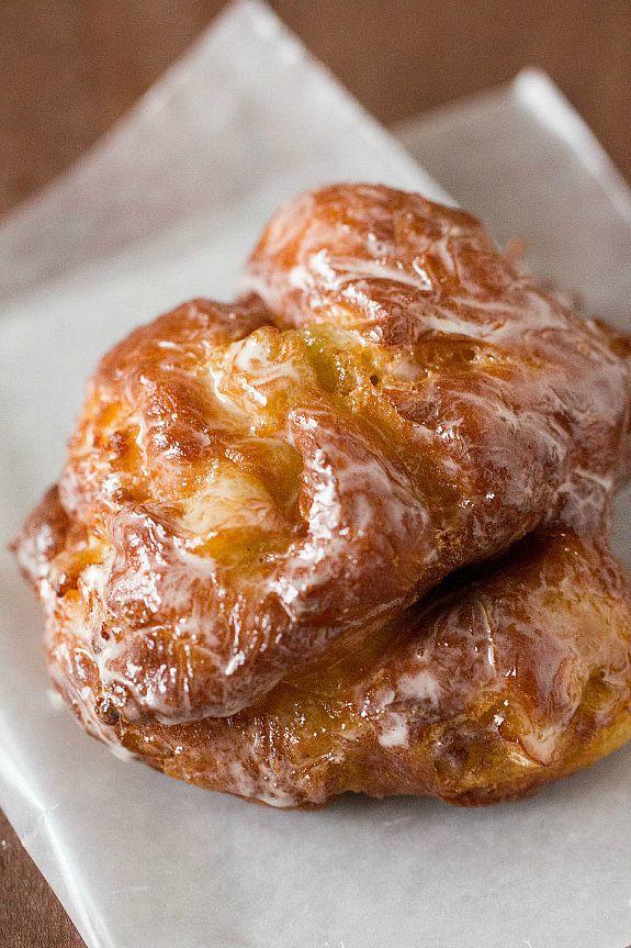 """<strong>Get the <a href=""""http://www.browneyedbaker.com/apple-fritter-doughnuts/"""" target=""""_blank"""">Apple Fritter Doughnuts reci"""